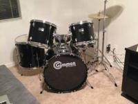 Shiny Black Gammon drum set for sale: $275 obo. Bought
