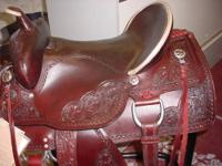 NEW 16? OR 17? ALL ROUND SADDLE Chestnut color with a