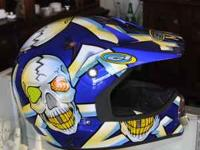 Size Large Fulmer DOT Certified Helmet with cool skull