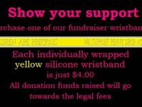 Hello, We have for sale YELLOW wristbands as shown in