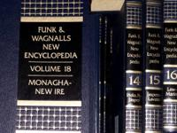 Complete set of Funk & Wagnalls New Encyclopedia.