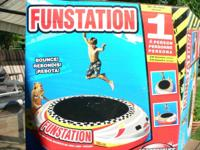 """Funstation"" Water Trampoline.  10' diameter with"