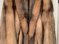 Beautiful crystal fox fur jacket only worn a few times.
