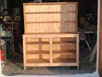 WOOD FURINTURE, PICTURES OF DRESSER, HUTCH, SPICE RACK,