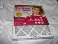 FIVE AIR FILTERS 16X20X1. ALL NEW. DO NOT FIT MY NEW