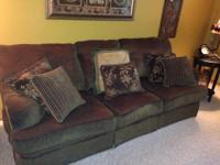 6 piece living room set includes over-sized couch,