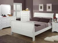 Brand New 6 pc Bedroom Set Includes --Headboard,
