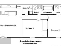 2 Bedroom Furnished Apartment - 905 Sq. Ft. - $1,250.00