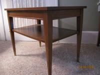 MID-CENTURY MAHOGANY END TABLE$20. Mahogany end / side