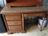 desk and shelf for sale: will take $150.00 for both, or