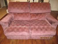Sofa, enjoy seat, both have reclining chairs on each