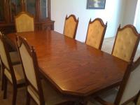 MUST GO! We have a mahogany dining table & & china