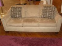 Sofa: about 2 yrs old, in good condition. Initially