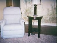 RECLINERS (2): Powder blue fabric, La-Z-Boy, removable