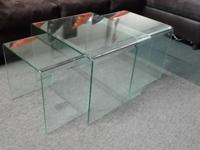 3 Piece nesting coffee tables. can be used as accent