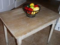 Solid wood sturdy primitive table, circa late 1930's