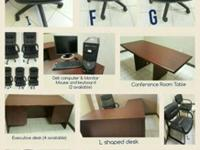 Used Office Furniture | Moving Sale Black Chairs (desk