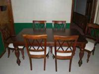"Solid Cherry Dining Room Set by ""Stanley"". Includes"