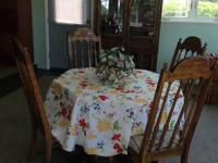 Moving soon Dining space set-.  Beautiful Hexagon Table
