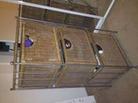 I am selling a 3 wicker basket dresser. There is slight