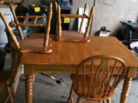 I have an oak dining room set which includes oak chairs