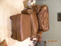 Furniture for sale. Leather sofa, leather chair and