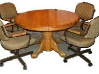 Oak kitchen table and chairs $350 Glider Rocker with