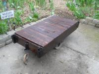 "Industrial Cart Size 24"" W X 54"" L X 16"" H Age unknown"
