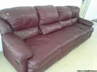 Leather Couch $25 YOURS cleaning out garage SEE PHOTO