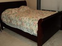 Selling the following items:  Bed frame set (headboard,
