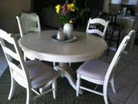 White,Ashley furniture set.Good quality 8 pieces. Could