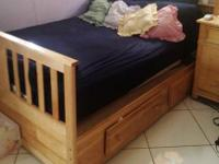 Awesome set of bed frame, bureau , and desk. Great for