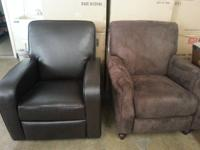 Good leather recliners, loveseats, room sets, media