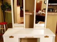 Beautiful White Vanity- Two full body mirrors- Great