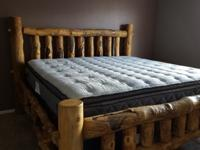 Handmade Log Wood bed set. Very sturdy, all natural.