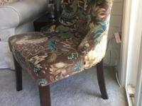 Pair of Chairs:Peacock upholstered Chairs from Pier One