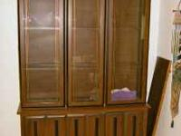 Further Reduced---Beautiful china cabinet; three doors,