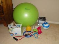 Exercise Ball, 2 lb. Hand Weights, DVD, 8 lb. Toning