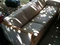 Futon couch has only slight cut on side $50 Serious