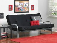 -FULL DIMENSION FUTON FRAMEWORK, Silver.  - NEW IN
