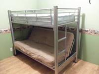 Futon metal bunkbed. Purchased from ArtVan. Great