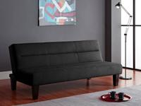 - FUTON COUCH BED ~ Black ~.  - NEW IN FACTORY