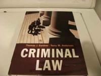 Criminal Law 10th edition: 978-0-4-9539089-3 $50