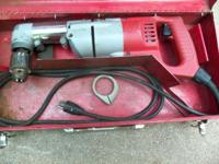 Very Nice - 90/Degree Drill Milwaukee, With Case -
