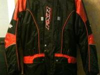 FXR SNOWMOBILE BIB JACKET COMBINATION SIZE MM/ LARGE.