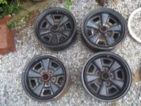 set of 5 spoke rally  wheels for z28 Camaro's 70-81 and