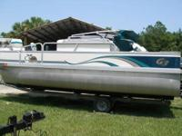 This pontoon boat is in great shape and ready for the