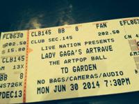 2 Tickets for $100 each to LADY GAGA'S ARTRAVE Concert