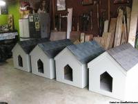 I built some nice giant dog houses. They are 3' BY 4'