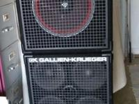 "4x10"" bi-ampable and 1x15"" with Cervin Vega speaker all"